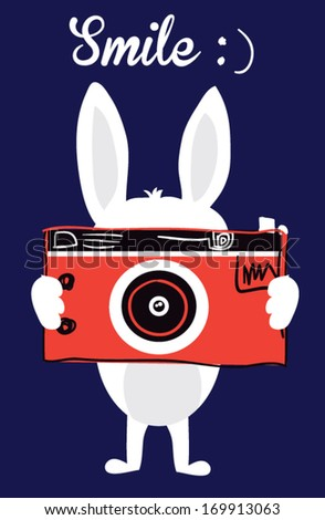 cute rabbit - stock vector