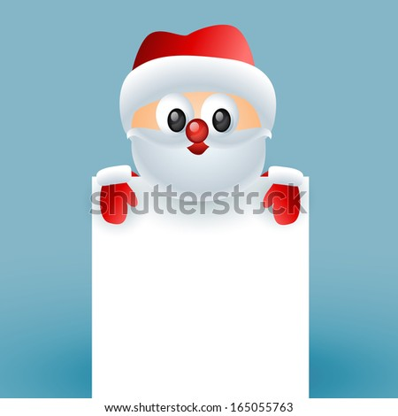 cute santa claus with space for your text - stock vector