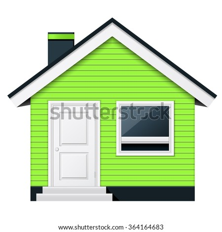 Cute scandinavian cottage - country house - stock vector