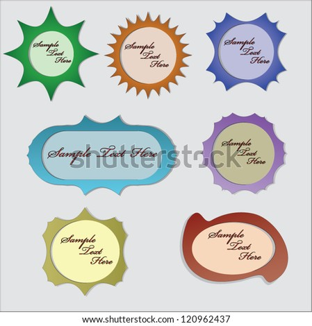 cute scrapbook elements, speech bubbles, text box... - stock vector