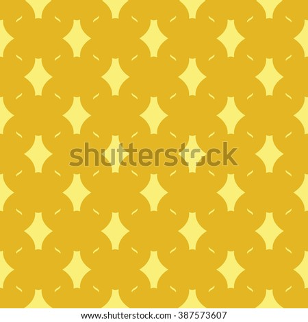 Cute seamless abstract pattern with repeating chain elements on the yellow background. Vector illustration eps - stock vector