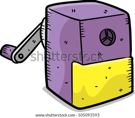cute sharpener in doodle style - stock vector