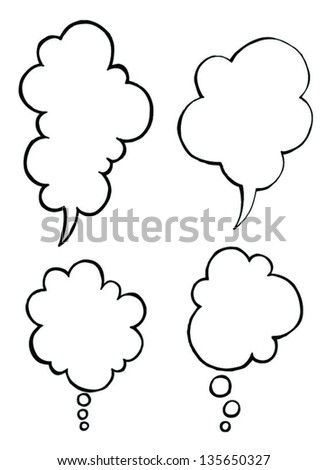 cute simple bubble in simple draw - stock vector