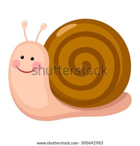 Cute snail cartoon - stock vector