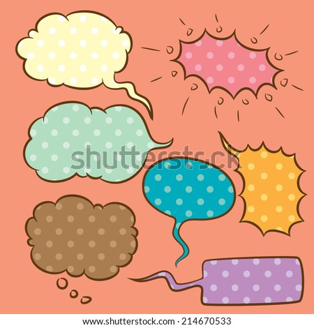 cute speech bubble - stock vector