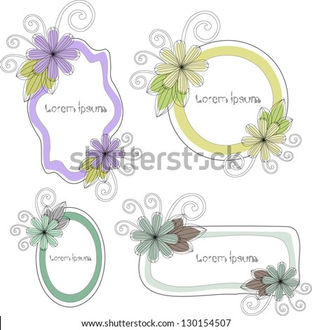 cute speech bubble set - stock vector