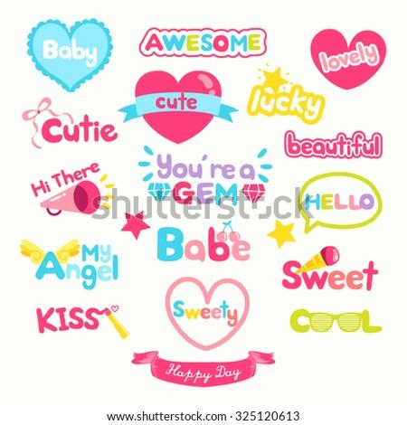 Cute Wording Vector Design Illustration - stock vector