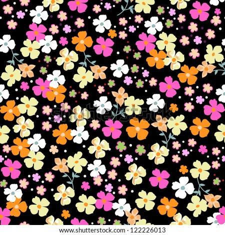 cutie seamless background - stock vector