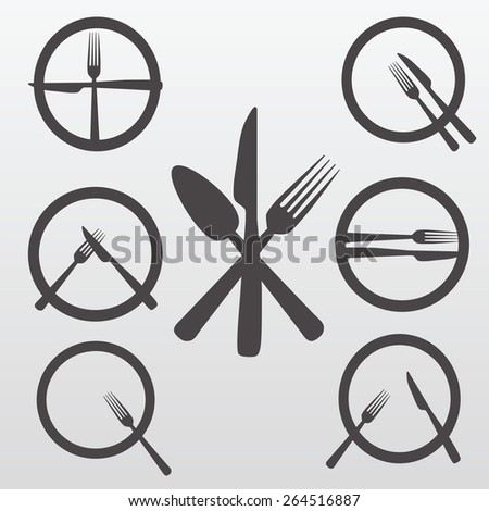 Cutlery Icons Set - stock vector