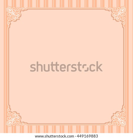 Cutout paper frames with flourish decoration, vintage ornamental calligraphic vignettes. vintage wedding frame floral border template illustration - stock vector