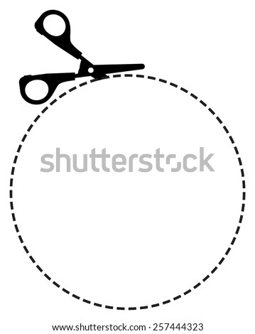 cutting scissors vector - stock vector