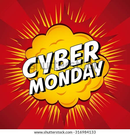cyber monday deals design, vector illustration eps10 graphic  - stock vector