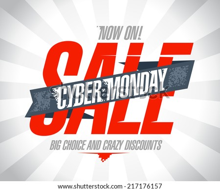 Cyber monday sale design. - stock vector