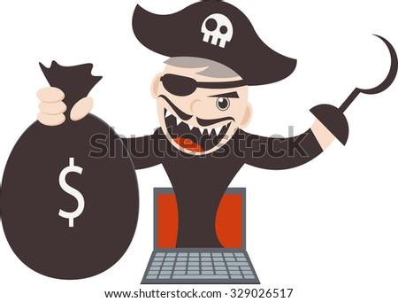 Cyber Pirates - stock vector