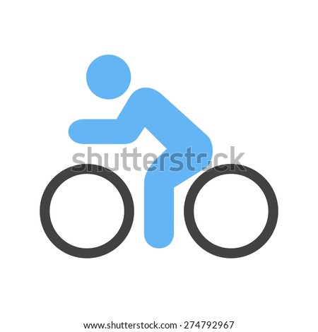 Cycle, bicycle, cyclist, cycling, sports icon vector image. Can also be used for fitness, recreation. Suitable for web apps, mobile apps and print media. - stock vector