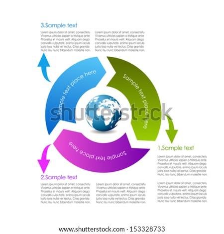 Cycle diagram design - stock vector