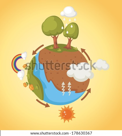 cycle in nature - stock vector