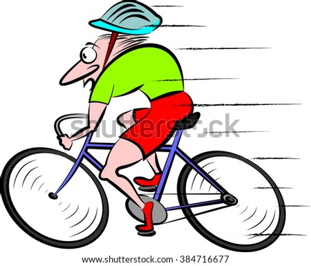 cyclist, cycling - vector bike  - stock vector