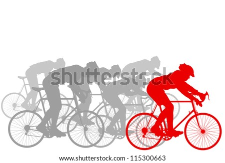 Cyclist leader winner background vector - stock vector