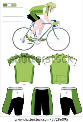 Cyclist team equipment - stock vector