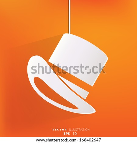 cylinder hat  icon - stock vector