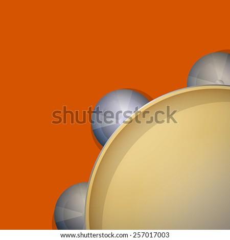 Cymbal tambourine icon, vector art - stock vector