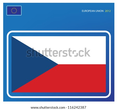Czech republic flag - stock vector