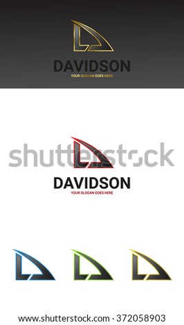 D Letter Logo Template. 5 versions. - stock vector