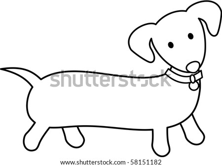 Dachshund - stock vector