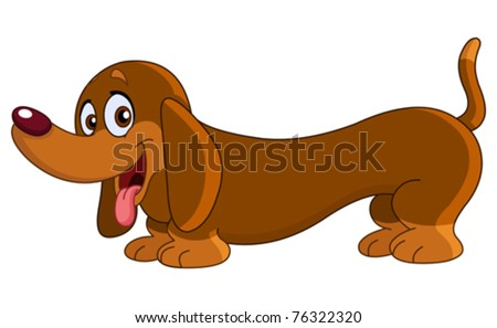 Dachshund dog - stock vector