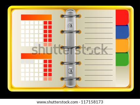 daily planner - stock vector