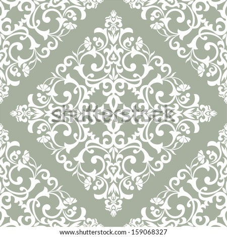 Damask elegant light wallpaper, tile. Seamless vector background. Ethnic pattern. - stock vector