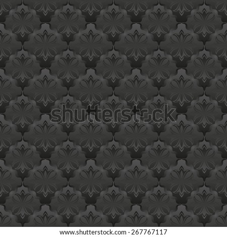 damask pattern seamless with ornaments - stock vector
