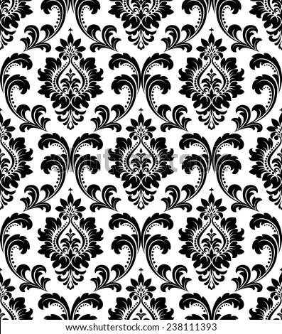 ... wallpaper. Flowers on a black and white background. - stock vector