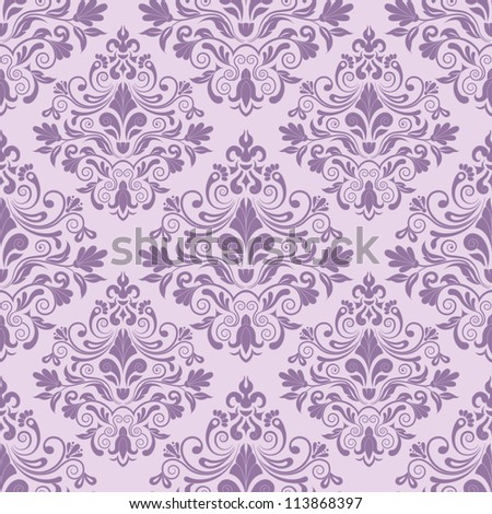 Damask seamless pattern for design. Vector Illustration - stock vector
