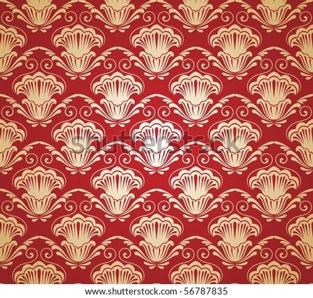 Damask seamless pattern. Vector illustration. - stock vector