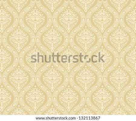 Damask wallpaper - stock vector