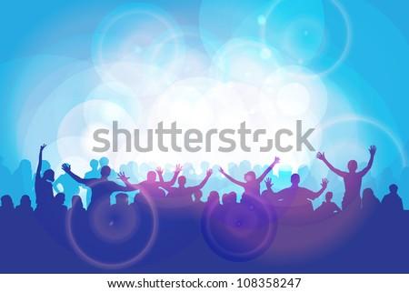 Dance party - stock vector