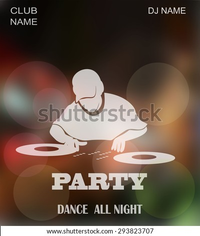 Dance party, dj battle design with place for text. - stock vector