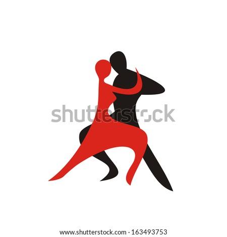 Dance sign vector illustration - stock vector