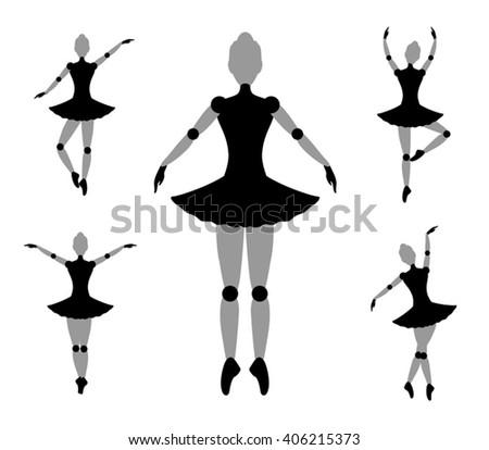 dancer girl symbol - stock vector