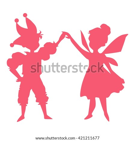 dancing children dressed in carnival costumes - stock vector