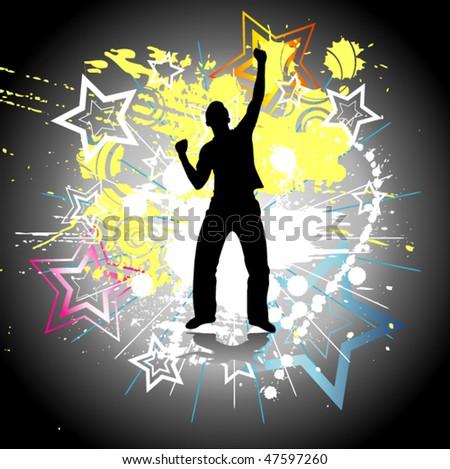 Dancing man - stock vector