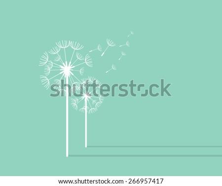 Dandelion Background. Retro Concept Vector Illustration - stock vector