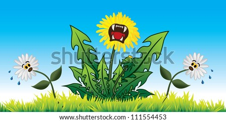 Dandelion Domination - stock vector