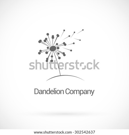 Dandelion, logo design vector template - stock vector