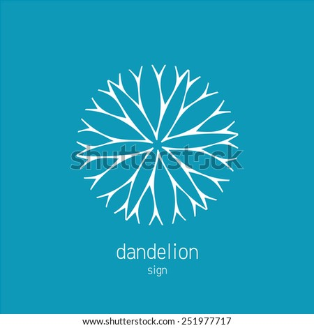 Dandelion logo template. Cosmetics natural symbol. - stock vector
