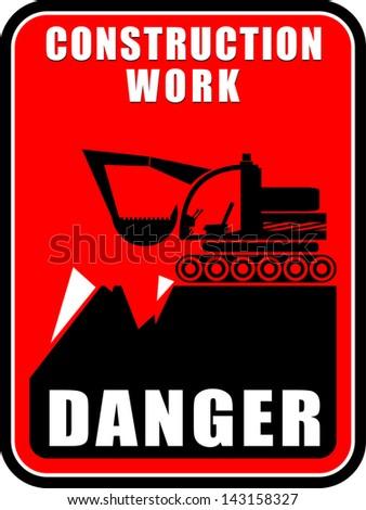 Danger,  construction work - stock vector