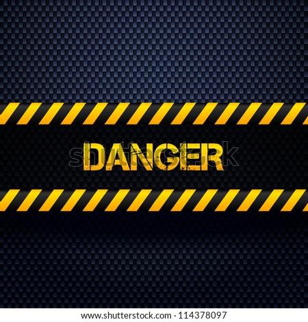 Danger dark background. Vector illustration. - stock vector