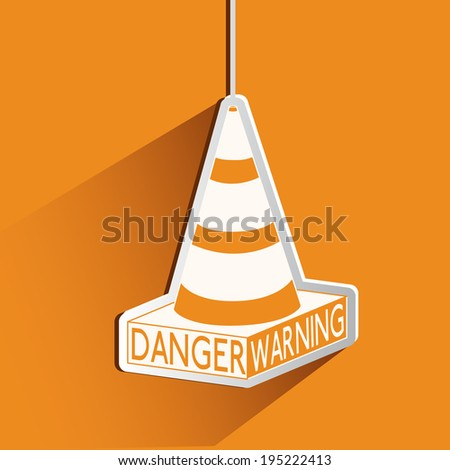 Danger design over orange background, vector illustration - stock vector